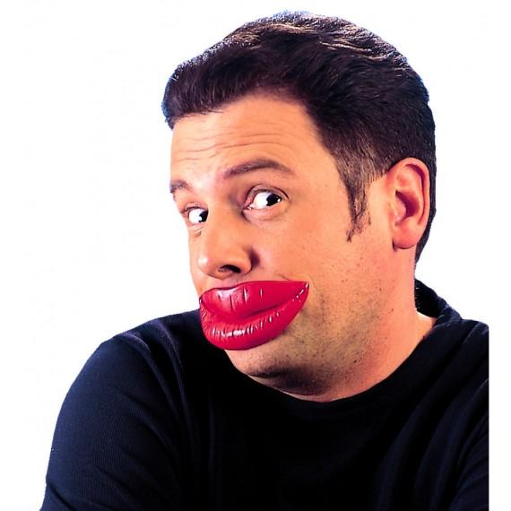 Labios Bésame de color Rojo para Adulto