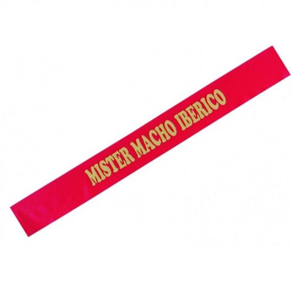 Banda de Mister Macho Ibérico de color Rojo para Adulto