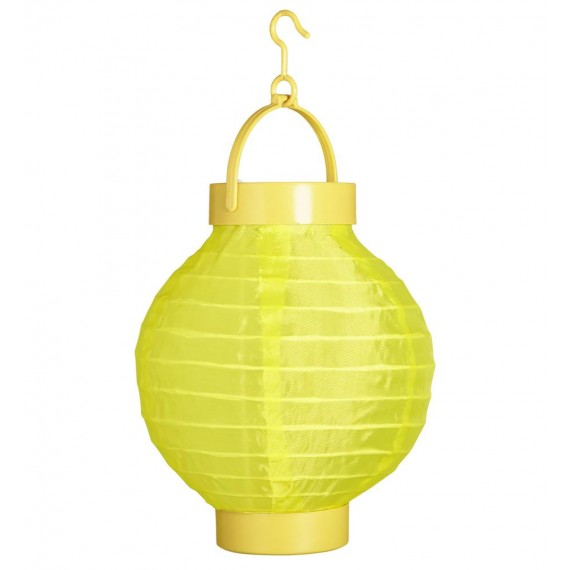 .Farolillo de Tela de color Amarillo de 15 Centímetros