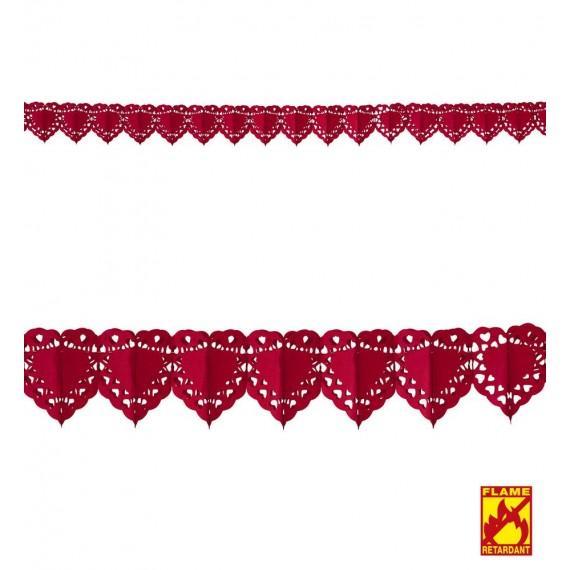 Guirnalda de Corazón de color Rojo de 4 Metros