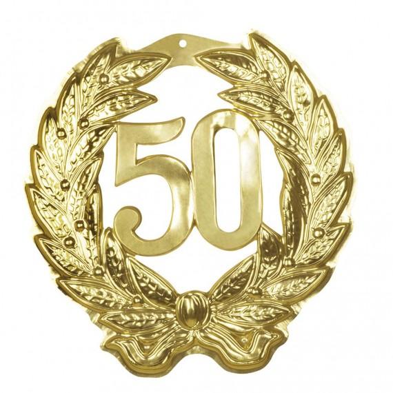 Colgante de color Oro con Número 50 de 45 x 42 Centímetros
