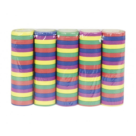 Pack de 5 Paquetes de Serpentina de Varios Colores