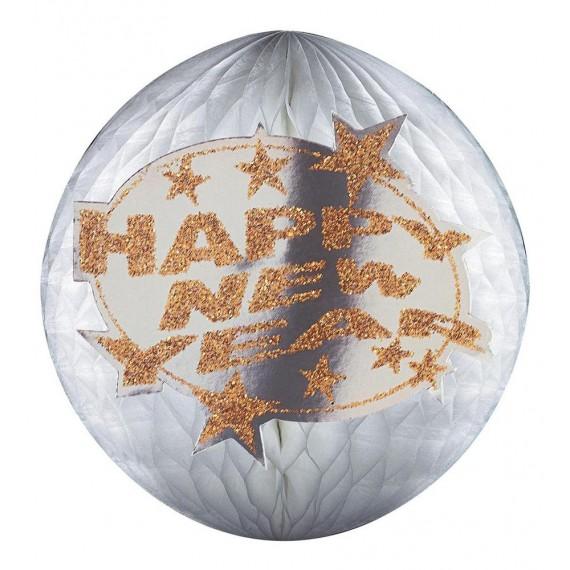 Bola de Panal de Happy New Year 25 Centímetros