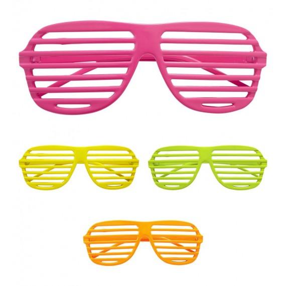 Gafas Shutter Neón Varios Colores para Adulto