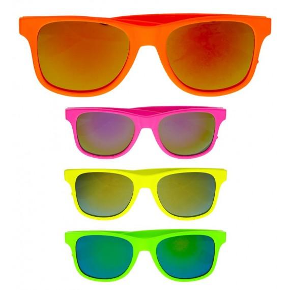 Gafas de los años 80s de Neón Varios Colores para Adulto