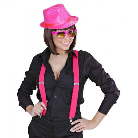 Tirantes de color Rosa Extra Largos de 115-120 Centímetros para Adulto