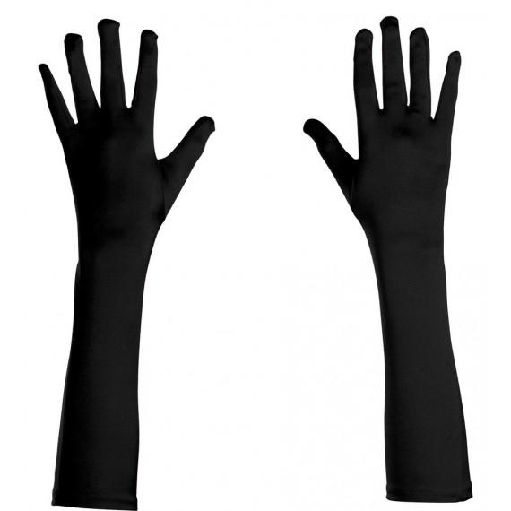 Guantes de Elastano de color Negro de 43 Centímetros para Adulto