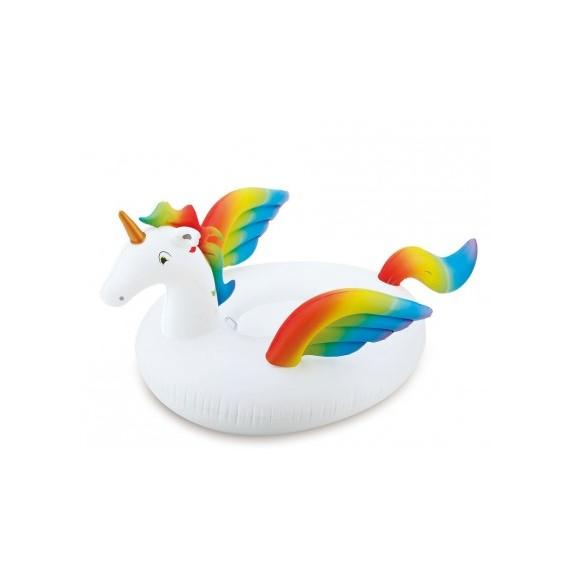 'Unicornio Hinchable de color Blanco de 123 x 100 Centímetros