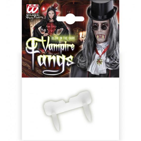 Colmillos de Vampiro Fluorescentes para Adulto