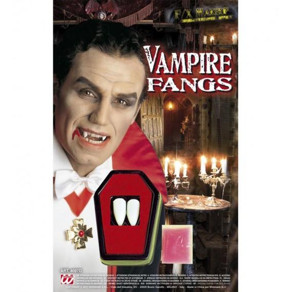 Colmillos de Vampiro de color Blanco para Adulto
