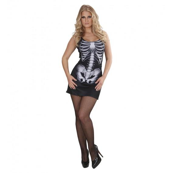 Disfraz de Esqueleto de color Negro para Adulto