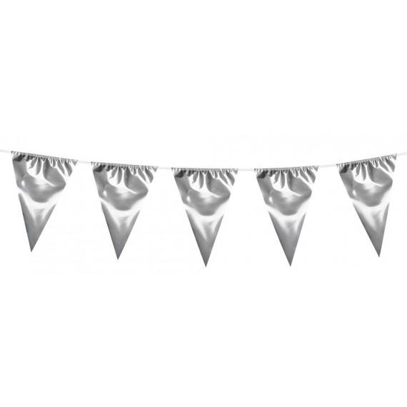 Banderines Metálicos de color Plata de 10 Metros