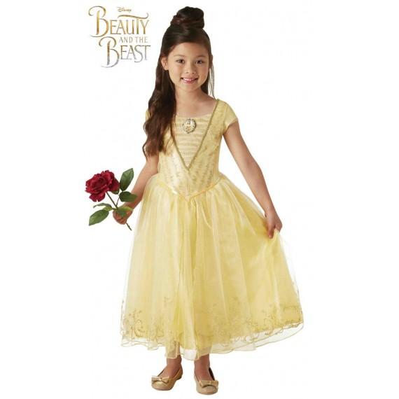 Disfraz de Bella Deluxe de la Bella y la Bestia Infantil