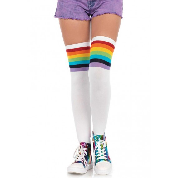 Medias Rainbow de color Blanco para Adulto