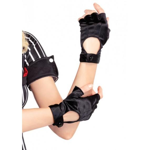 Guantes de Moto sin Dedos de color Negro para Adulto