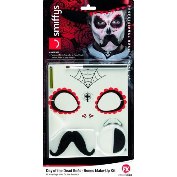 Kit de Maquillaje de Esqueleto del Día de los Muertos