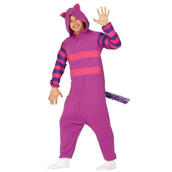 Disfraz de Gato de color Lila para Adulto