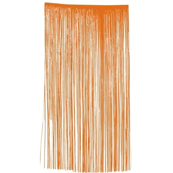 .Cortina de color Naranja de 100 x 200 Centímetros