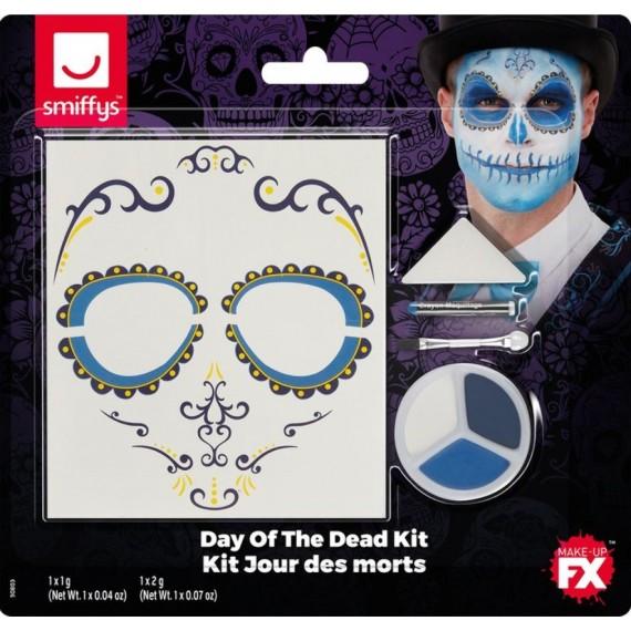 Kit de Maquillaje del Día de los Muertos Mexicano para Adulto