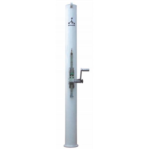 Postes de Acero de 80 Milímetros con Anclajes para Pádel