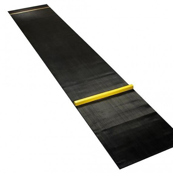 Tapiz Protector de Suelo para Tiro con Dardos de 330 x 60 Centímetros con Marcador