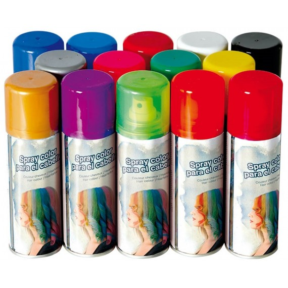 Spray Color de 125 Mililitros Varios Colores para el Cabello