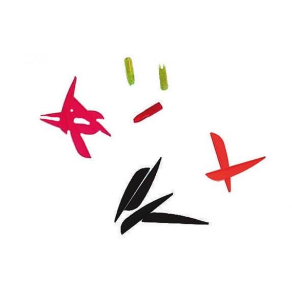 Pack de 12 Plumas para Flechas de Carbono