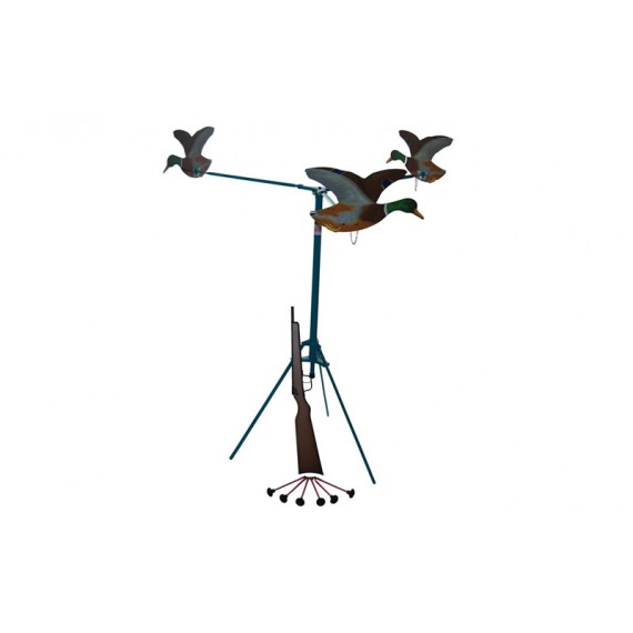 Rifle de Flechas de Seguridad con Ventosa y Diana de Patos