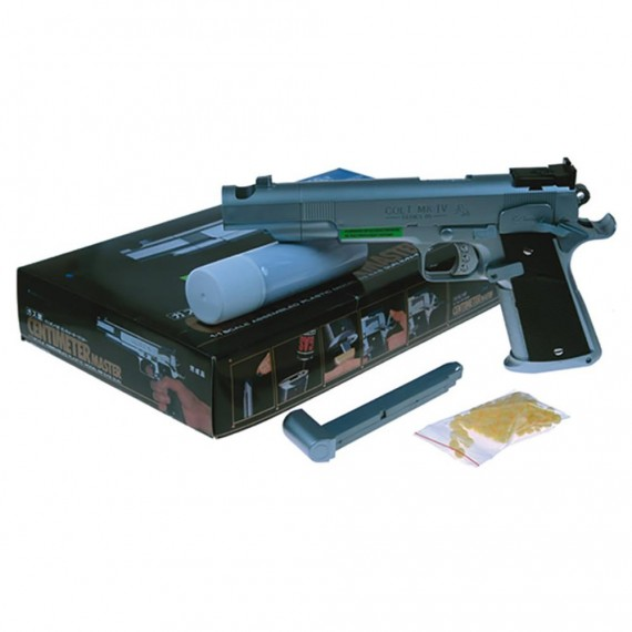 Pistola Colt-Gas Cromada