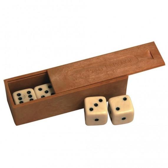 Caja con 5 Dados con Puntos