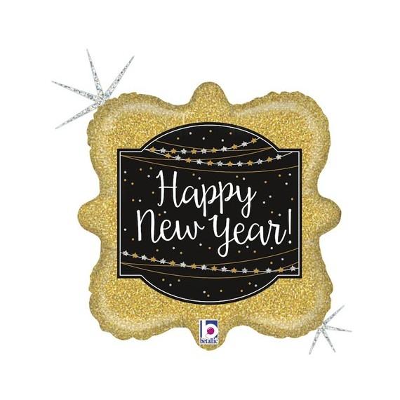 Globo de Happy New Year Brillante de 46 Centímetros