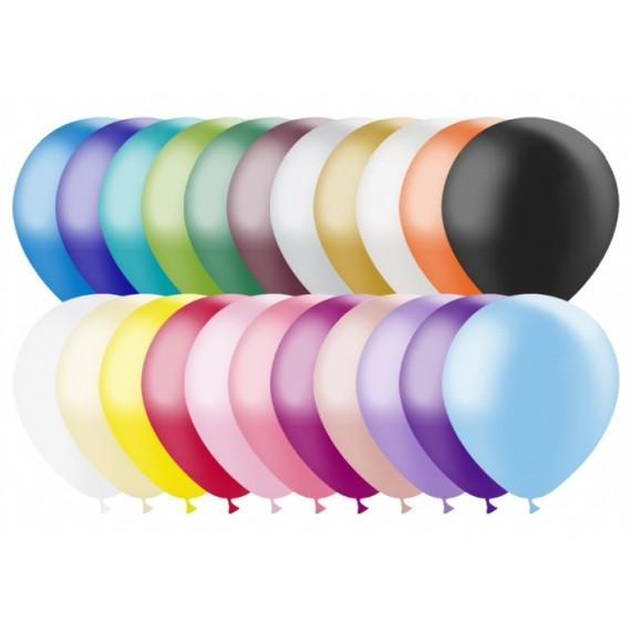 Globo 100 Unidades de 24 Centímetros Color Metálico 100% Biodegradable