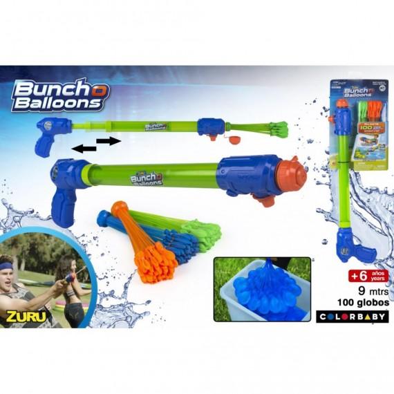Pistola de Agua con 100 globos Hinchado Automático de Agua