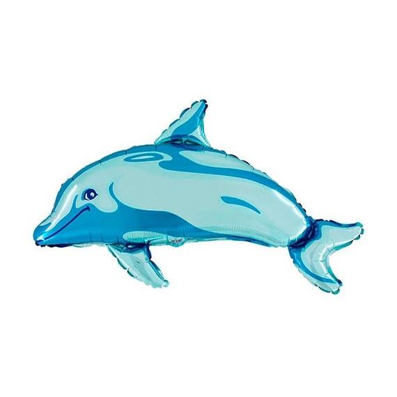 Globo de Delfín de 79 Centímetros de color Azul