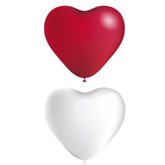 Globo de Corazón 50 Unidades de 25 Centímetros Color Mate 100% Biodegradable