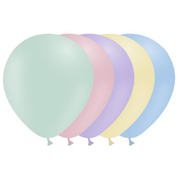 Globo 50 Unidades de 28 Centímetros Color Pastel 100% Biodegradable
