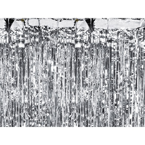 Cortina de color Plata de 90 x 250 Centímetros