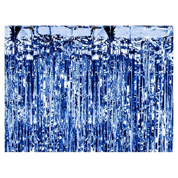 Cortina de color Azul de 90 x 250 Centímetros