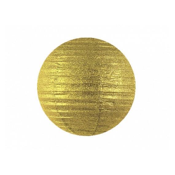 .Farolillo de Papel de 35 Centímetros de color Oro