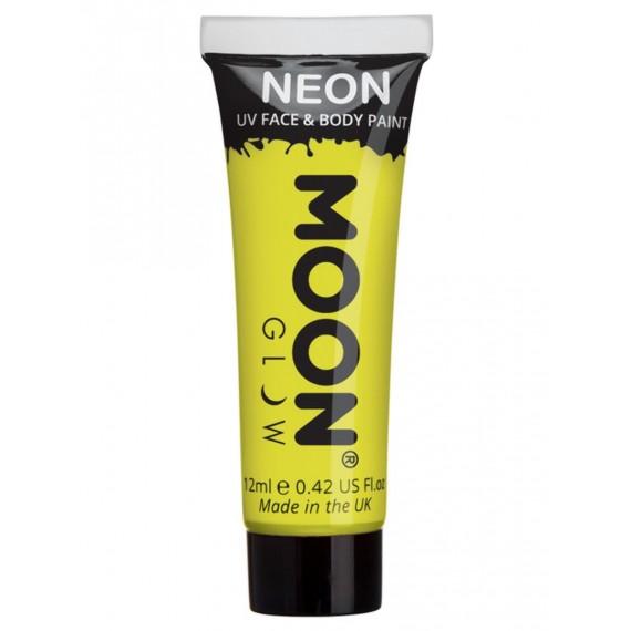 Maquillaje Moon Glow Intense Neón UV de color Rojo de 12 Mililitros para Cuerpo y Cara