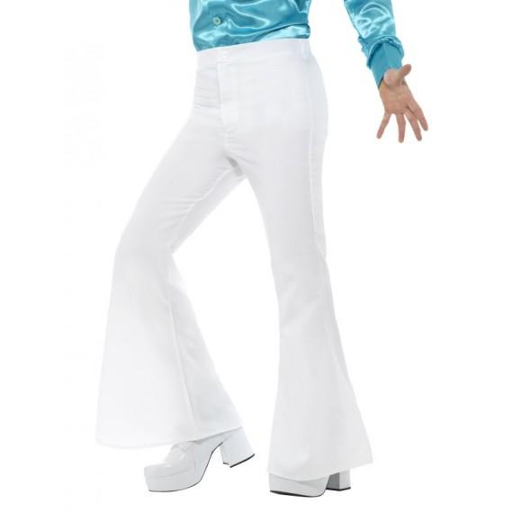 Pantalón de Campana de color Blanco para Adulto