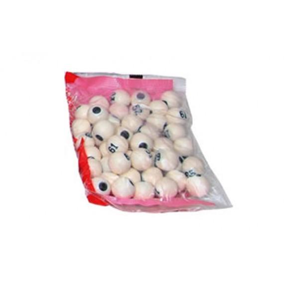 Pack de 90 Bolas Grandes para Bingo 1,8 Centímetros de Diámetro