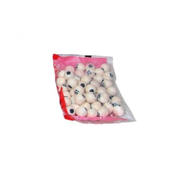Pack de 90 Bolas Pequeñas para Bingo 1,3 Centímetros de Diámetro