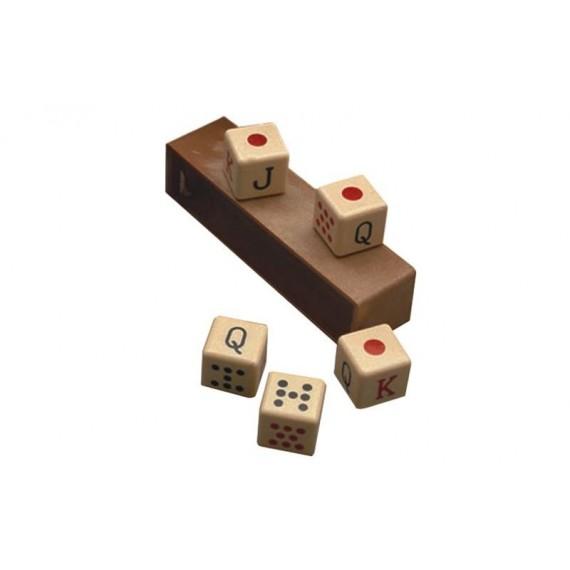 Caja con 5 Dados de 17 Milímetros para Póker