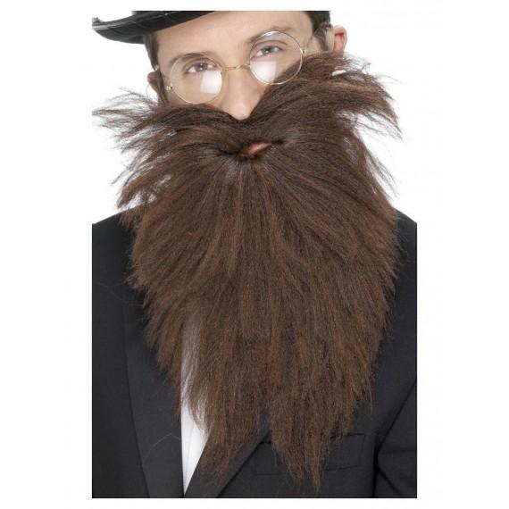 Barba y Bigote Marrón para Adulto