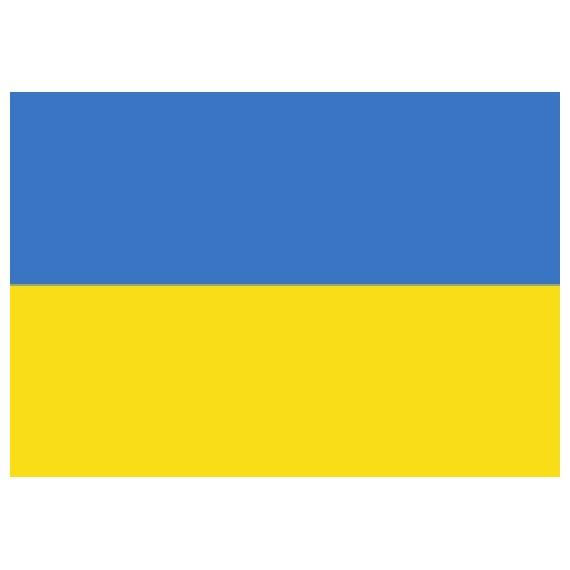 'Bandera de Ucrania de Poliéster Microperforada Reforzada