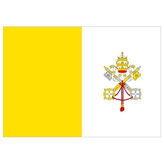 Bandera de Vaticano de Poliéster Microperforada Reforzada