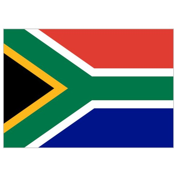 Bandera de Sudáfrica de Poliéster Microperforada Reforzada