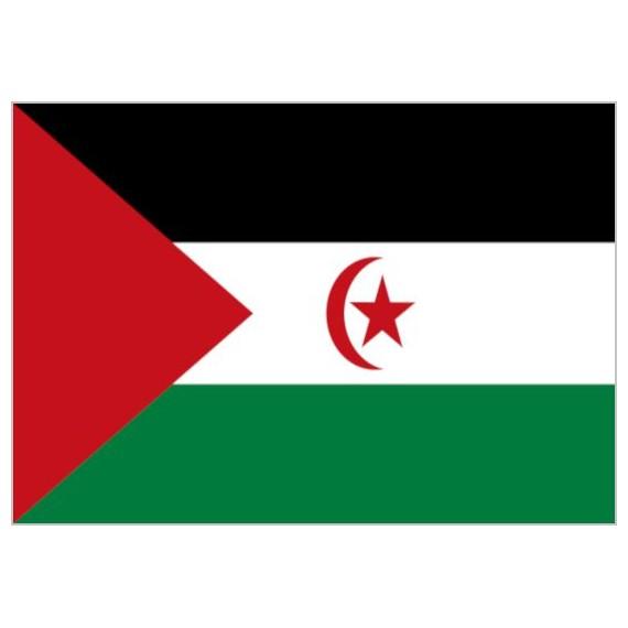 Bandera de Sahara de Poliéster Microperforada Reforzada