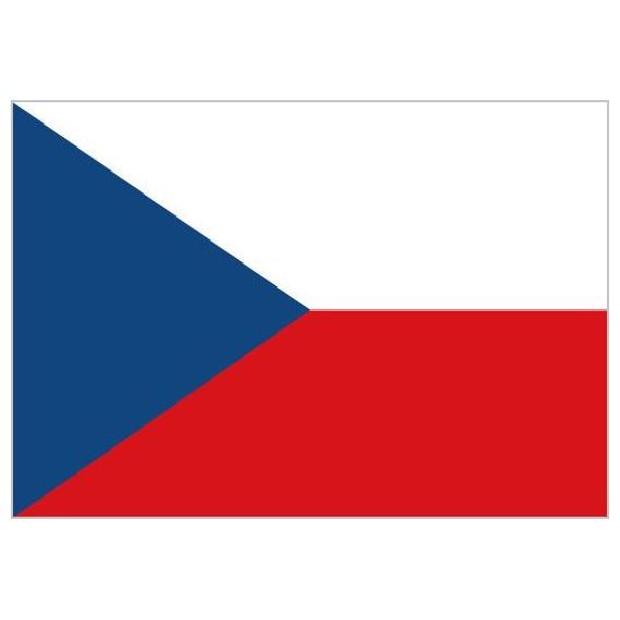 'Bandera de República Checa de Poliéster Microperforada Reforzada